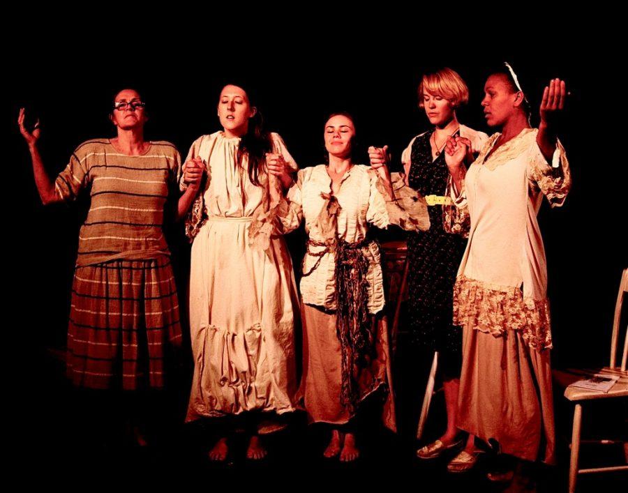 Kathleen Goldpaugh, Clemmie Evans, Catriona Rubenis-Stevens, Emily Meier & Amina Omagbemi - Bible - Photo by Jane Stein