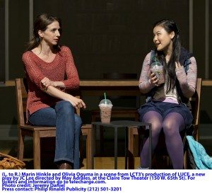LUCE Marin Hinkle and Olivia Oguma