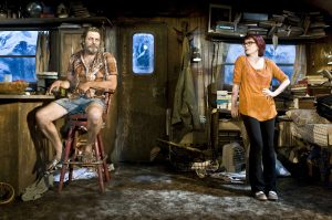 (L to R) Nick Offerman  & Megan Mullally. Photo Credit: Monique Carboni