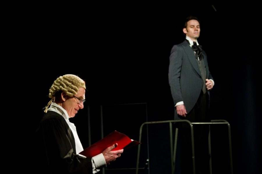 "Robert Ian Mackenzie and Michael Halling in ""The Trial of Oscar Wilde"". Photo by Brynne McManimie."