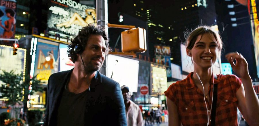 Mark Ruffalo and Kiera Knightley walking around NYC in Begin Again.