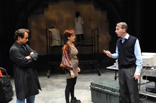 "Alex Draper, Tosca Giustini, Jonathan Tindle in David Edgar's ""Pentecost""."