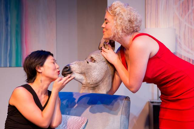 "Cleo Gray & Lauren Dortch-Crozier in ""Donkey Punch."" Photo by Hunter Canning."