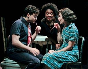 "Ari Butler, Adrienne C. Moore, and Tracy Michailidis in ""Ethel Sings"". Photo Credit: Rahav Segev / Photopass"