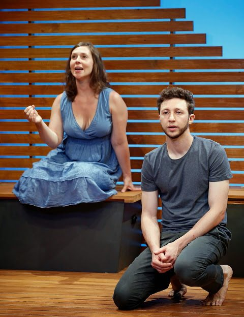 "Adam Green and Miriam Silverman in ""Riverbed."" Photo Credit: Carol Rosegg"