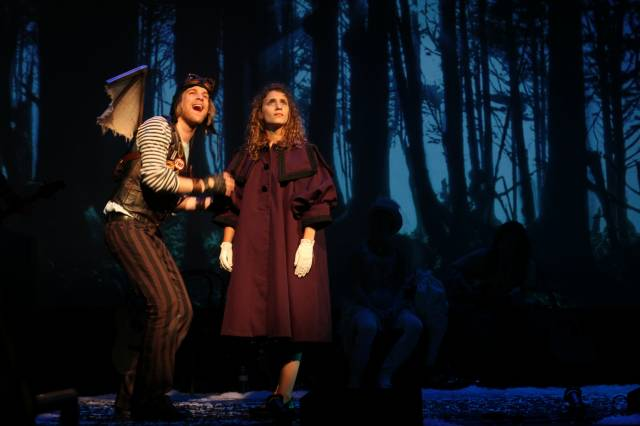"""Jason Hite and Eryn Murman in """"The Snow Queen."""" Photo by Haddon Kime."""