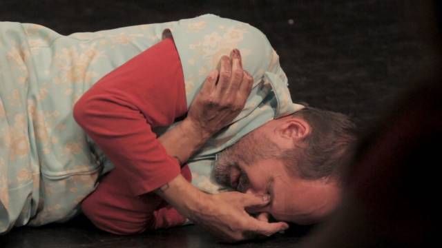 """Jim Shankman in """"Kiss Your Brutal Hands"""" at FringeNYC. Photo by Daniel Robinson"""