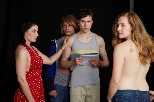 """Romy Nordlinger, Grant Riordon, Stephen James Anthony, and Lulu Fogarty in """"Lancelot""""."""