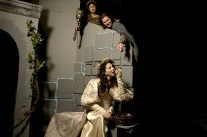"Darcy Dunn, Douglas McDonnell & Samantha Britt in ""Rappaccini's Daughter."" Photo by Peter Welch."