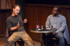 """Neil Holland and Chaz Reuben in """"Fault Lines."""" Photo by Brian Hotaling."""