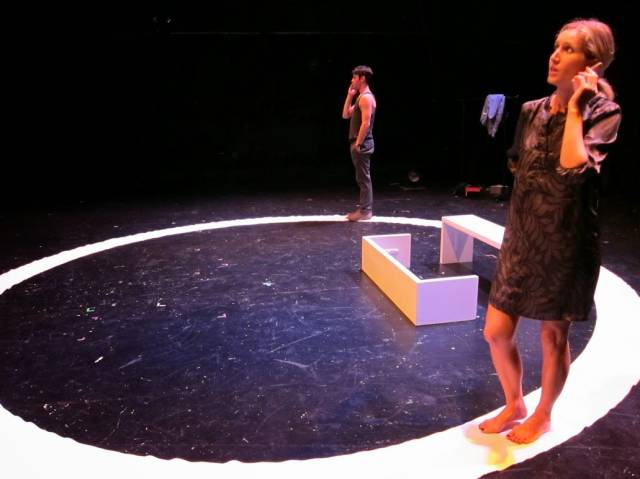"""Kyle Tuck and Nathalie Bryant in """"In the Ring"""".  Photo by Meli Sanfiorenzo."""
