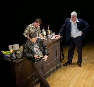 """Paul Nugent, Conor McIntyre, and Philip Callen in """"The McGowan Trilogy."""" Photo by Garlia C. Jones-Ly."""