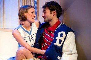 """April Kidwell & Christian Ryan in """"No One Loves Us Here."""" Photo credit: Hunter Canning."""