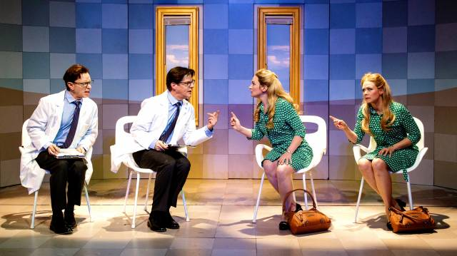 ARNIE BURTON, RICK HOLMES, KELLY HUTCHINSON, and LIV ROOTH in Lives of the Saints. (c) 2015 James Leynse