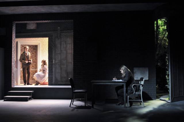 """Ben Rosenfield, Sophia Anne Caruso and Merritt Wever in MCC Theater's """"The Nether"""" (Photo by Jenny Anderson)"""