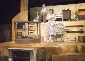 Charlie Owens & Alyson Leigh Rosenfeld in The Baker's Wife. Photo credit: Bella Muccari