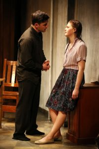 """Hamish Allan-Headley and Kate Lydic in """"The Belle of Belfast."""" Photo credit: Carol Rosegg."""