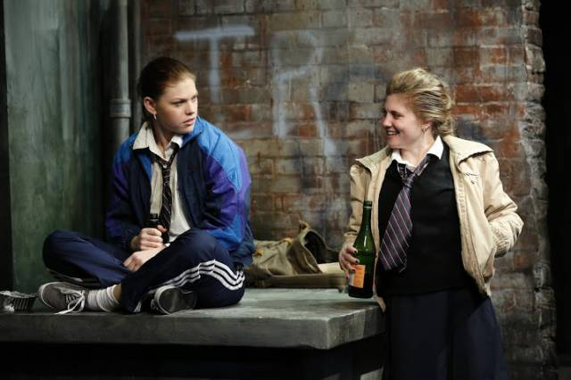"""Kate Lydic and Arielle Hoffman in """"The Belle of Belfast."""" Photo credit: Carol Rosegg."""