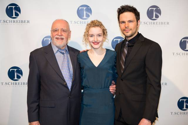 Terry Schreiber, Julia Garner and Jonny Orsini. Photo credit:  Jeremy Daniel Photography.