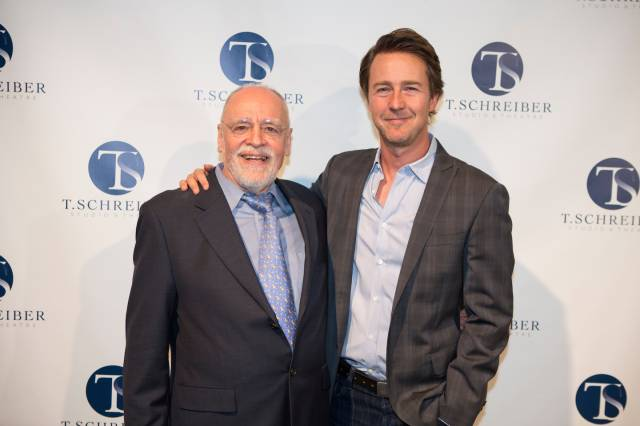 Terry Schreiber and Honoree Edward Norton. Photo credit:  Jeremy Daniel Photography.