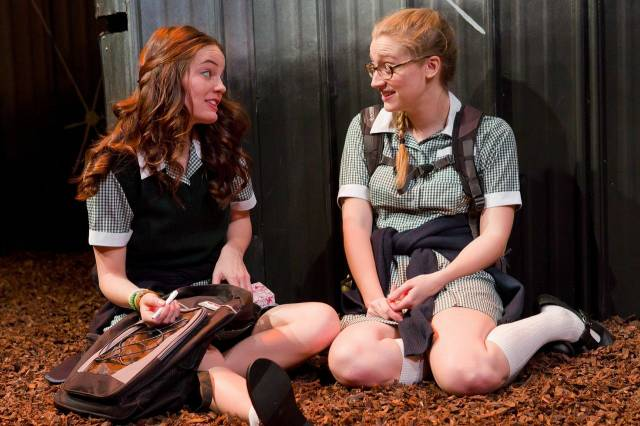 Angeliea Stark and Kiley Lotz in UNDERLAND at 59E59 Theaters. Photo by Hunter Canning