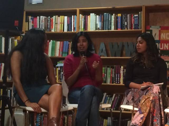 Rehana Lew Mirza reflects on the process of dramatizing complex issues during the Screen and Play Writing Panel. CREDIT: SAWCC