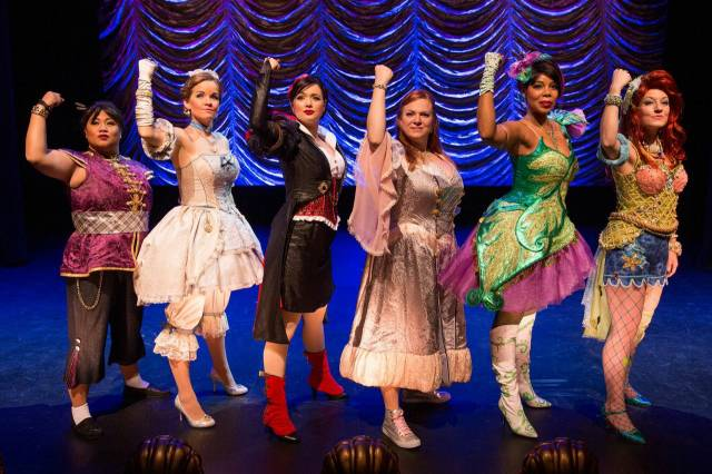 Lulu Picart, Becky Gulsvig, Soara-Joye Ross, Michelle Knight and Alison Burns in DISENCHANTED! Photo credit: Matthew Murphy.