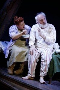"""Muireann Kelly and Angus Peter Campbell in """"In My Father's Words,"""" part of Brits Off Broadway at 59E59 Theaters. Photo by Carol Rosegg."""