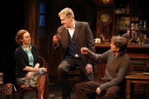 "Amanda Quaid, Paul O'Brien, and Tim Ruddy in ""The Weir."" Photo credit: Carol Rosegg."