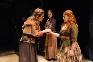 """Lucy Faust, Chelsea Melone and Tara Giordano in """"Vinegar Tom."""" Photo credit: Stan Barouh"""