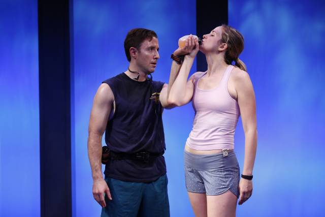 Clea Alsip and J.J. Kandel in 10K written and directed by Neil LaBute, part of Summer Shorts 2015 at 59E59 Theaters. Photo by Carol Rosegg