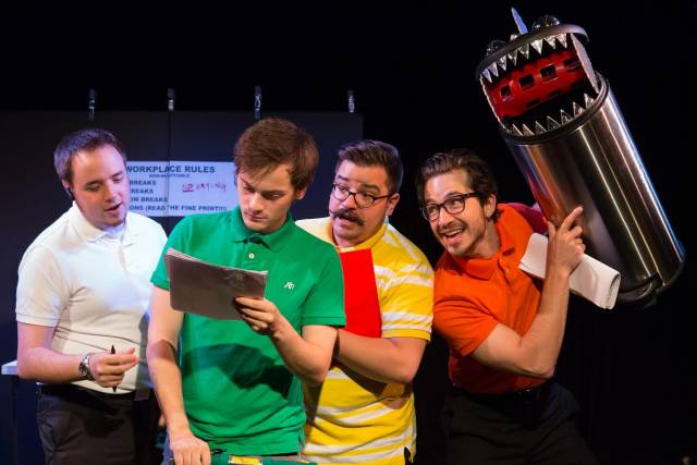 """Tommy Alsip, Aaron Riesebeck, Antonio Addeo, Wesley Tunison in """"Black Hold Wedding."""" Photo credit :Hunter Canning"""