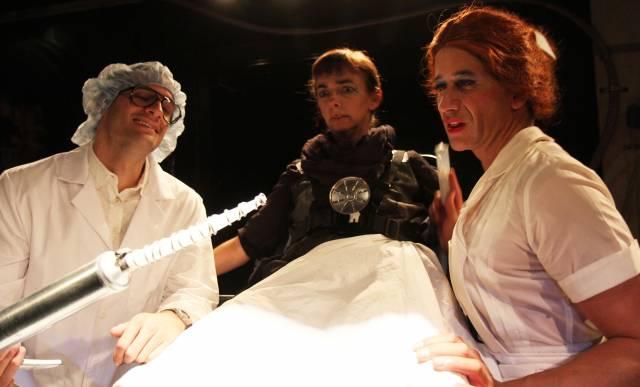 Dan Fagan, Laura Lundy-Paine and Michael Vega in The Singularity. Photo credit: Samantha Bednarz