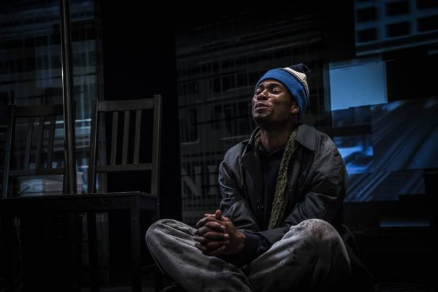 "J. Alphonse Nicholson in ""Freight."" Photo Credit: Dennis Cahlo"