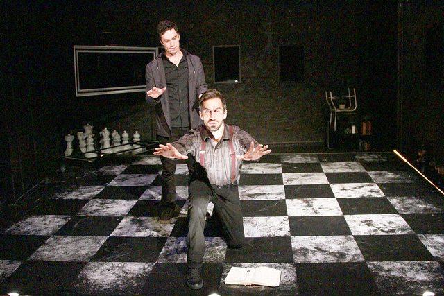 "David Siciliano and Sean Borderes in ""The Black Book."" Photo credit: Sara Edwards."