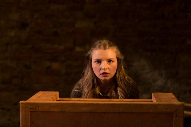 Genevieve Hulme-Beaman in PONDLING, produced by Gúna Nua Theatre Company and Ramblinman for Origin Theatre Co's 1st Irish Theatre Festival at 59E59 Theaters. Photo by Paul McCarthy.
