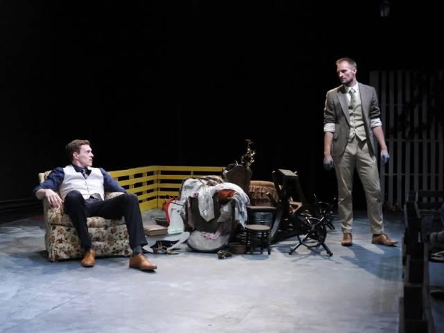Toby Macdonald (The Stranger) and Jason Paul Tate (The Dyer).  Photo by Jonathan Slaff.