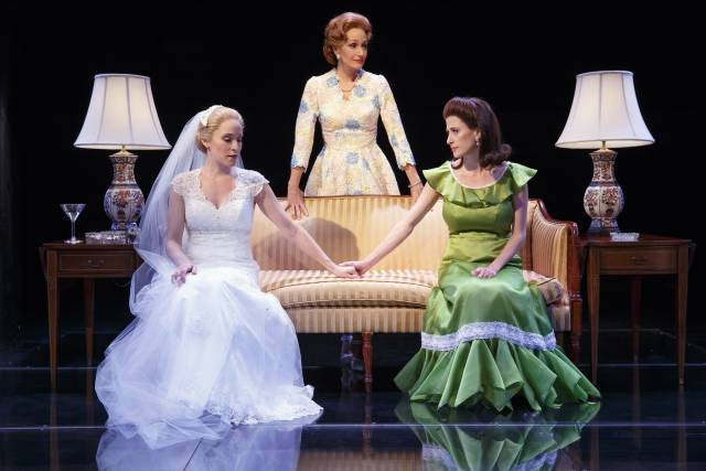 Betsy Morgan, Barbara Walsh, and Caissie Levy make up the Nixon women in First Daughter Suite. (© Joan Marcus)