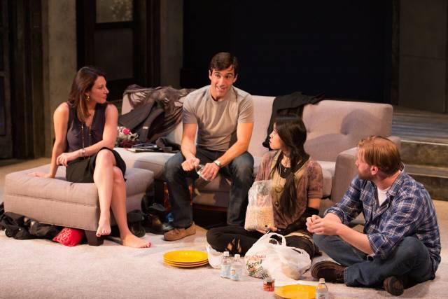Jolie Curtsinger, Jake Robards, Kim Wong and Zachary Clark in PROMISING. Photo by Michael Cinquino.