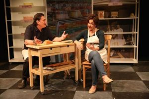 Robert Funaro and Joanna Bonaro in HOW ALFO LEARNED TO LOVE at 59E59 Theaters. Photo by Carol Rosegg