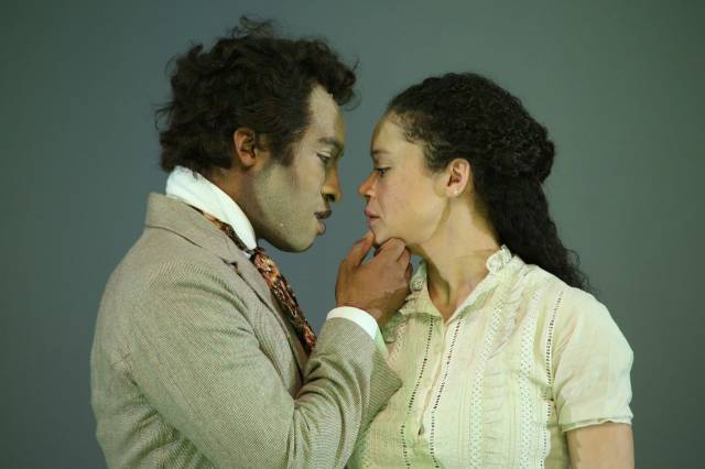 Austin Smith and Amber Gray in AN OCTOROON. Photo by Gerry Goodstein.