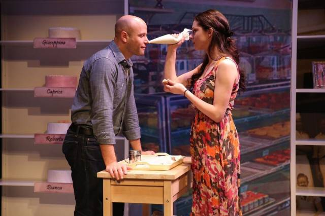 Christian Thom and Lauren Nicole Cipoletti in HOW ALFO LEARNED TO LOVE at 59E59 Theaters. Photo by Carol Rosegg