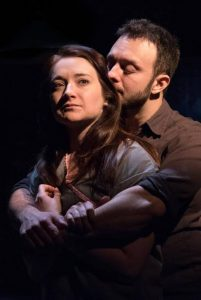 Vanessa Vache as Amber and James Kautz as Chris. Photo credit: Russ Rowland.