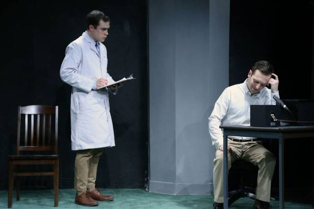"David Edward Jackson & Alex Herrald in ""Please Continue."" Photo credit: Gerry Goodstein."