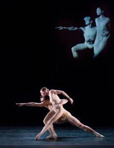 Pennsylvania Ballet Principal Dancer Lauren Fadeley and Corps de Ballet Member Lorin Mathis in Nacho Duato's Without Words. Photo By: Alexander Iziliaev