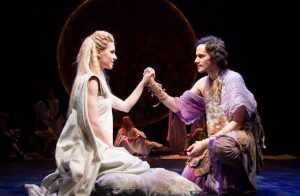 Gia Crovatin and Christian Camargo in Pericles. Photo credit: Henry Grossman