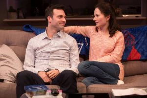 Jake Epstein and Jenna Gavigan in STRAIGHT. Photo credit: Matthew Murphy