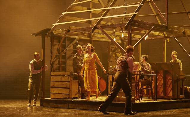 Carmen Cusack and the BRIGHT STAR Company. Photo by Nick Stokes
