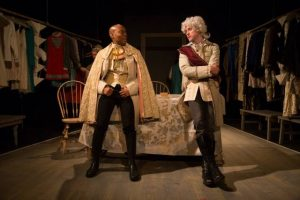Daryl Lathon as Minister Noailles, Stephen James Anthony as the Duke of Orleans - photo by Sergio Pasquariello
