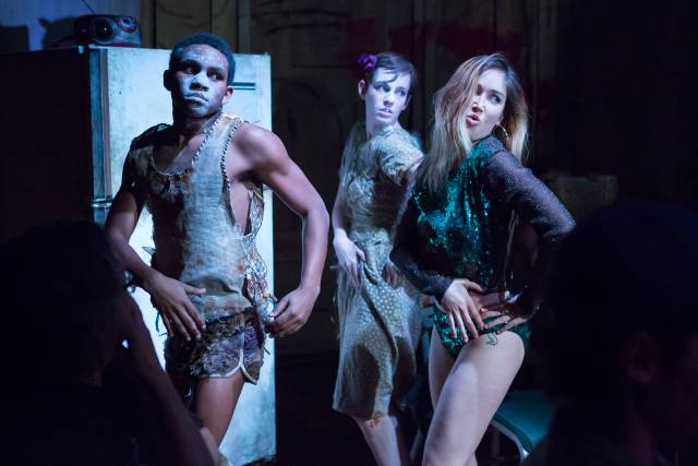 Derek Christopher Murphy, Casey Wortmann, and Xanthe Paige in WOLF IN THE RIVER. Photo by Hunter Canning.